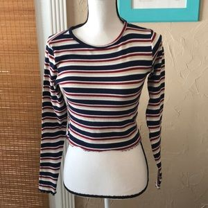 Striped Top.  Size M